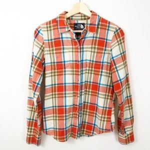 The North Face Button Down Flannel Plaid Top, S